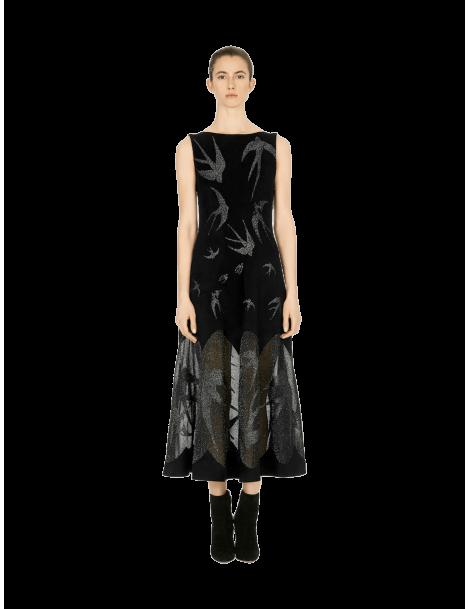 Long Hirondelle Velvet Dress