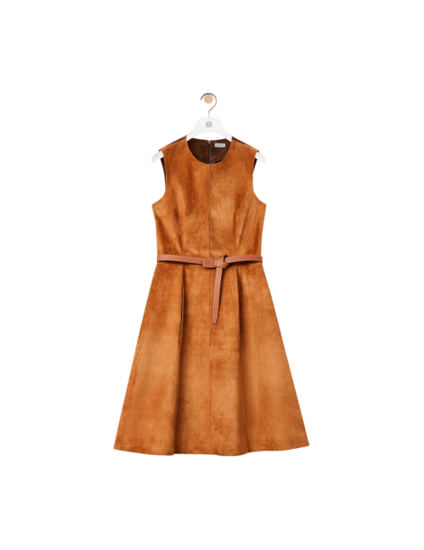 Suede Belted Dress