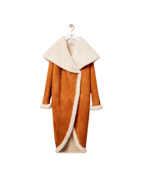 Shearling Wide Collar Coat