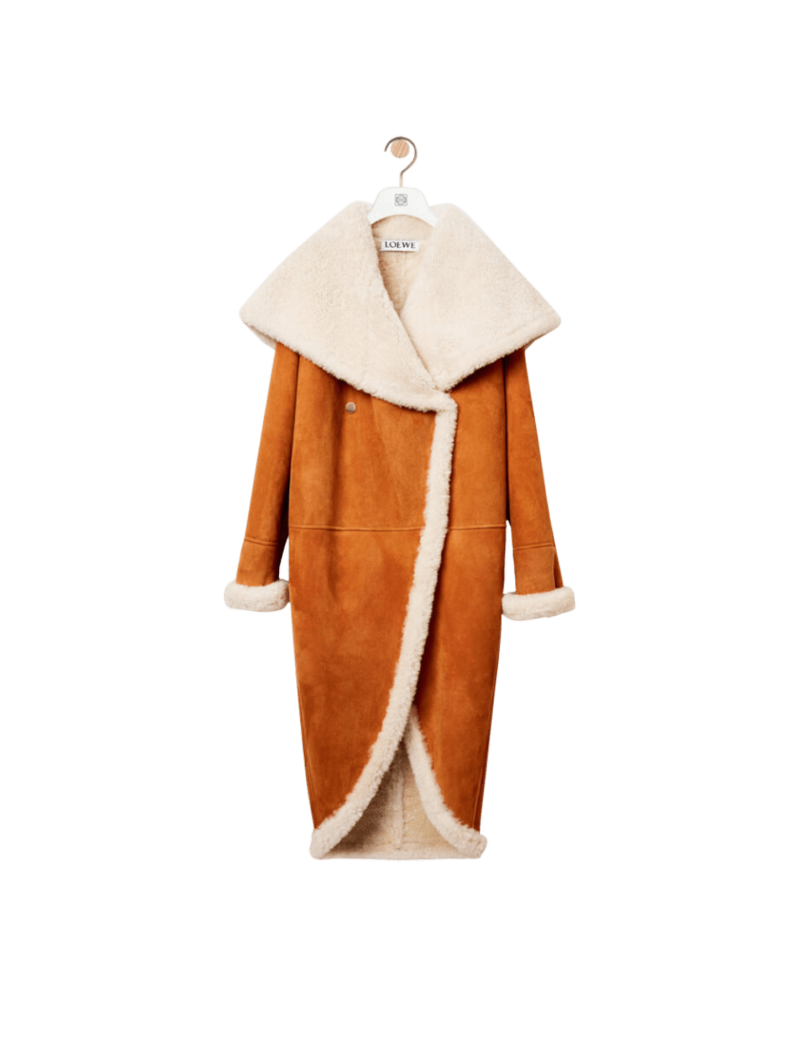 Shearling Wide Collar Coat