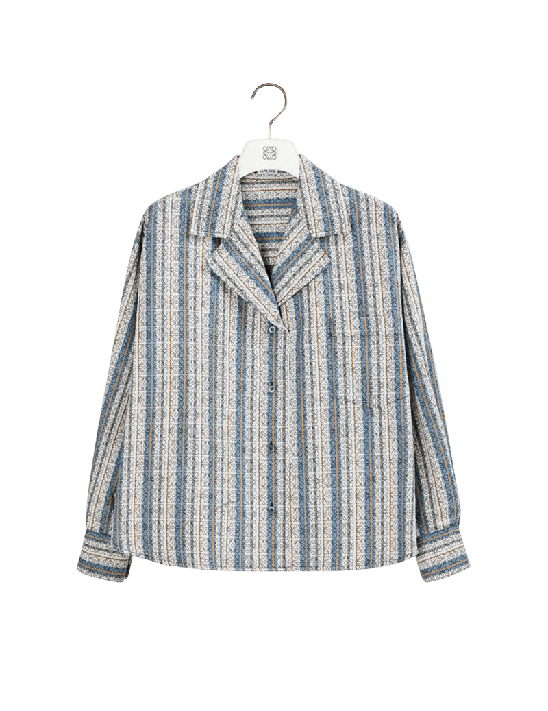 Stripe Anagram Overshirt