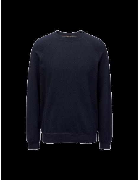 Fleece Silverstone round-neck sweater